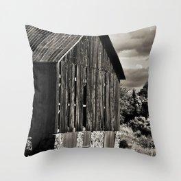 Sepia Barn Throw Pillow