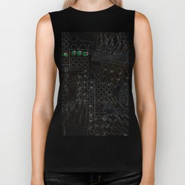 I Love You Letter Punches Abstract Black Biker Tank