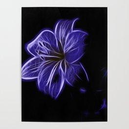A luminescent flower Poster