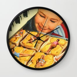 Girls on toast Wall Clock