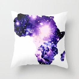 Violet Purple Galaxy Africa Throw Pillow