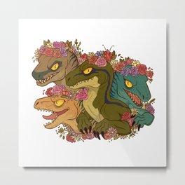 Raptor Babes Metal Print