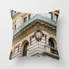Mint and Cream New York City Throw Pillow