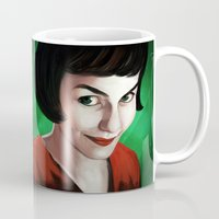 amelie Mugs featuring Amelie by Jon Cain