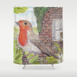 Robin Redbreast and Ginger Tom Shower Curtain