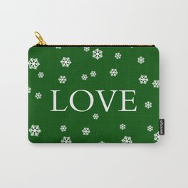 Winter Love - hunter green Carry-All Pouch