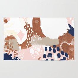 Skadi - metallic painting abstract minimal nursery home decor dorm college art Rug