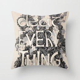 DEAR Throw Pillow