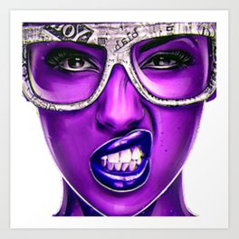 PURPLE--FACE Art Print