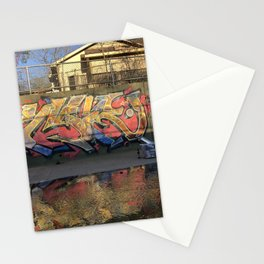 Graffiti in the ditch Stationery Cards