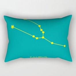 TAURUS (YELLOW-TEAL STAR SIGN) Rectangular Pillow