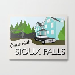 Supernatural Vintage Travel Posters - Sioux Falls Metal Print
