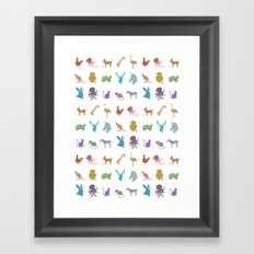 Glitter Animals C Framed Art Print