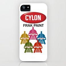 Cylon Frak Paint iPhone (5, 5s) Slim Case
