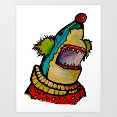 Clown Shark Art Print