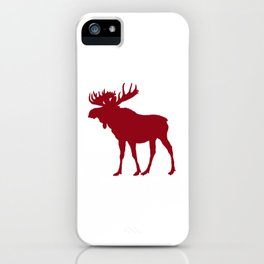 Moose: Rustic Red iPhone Case