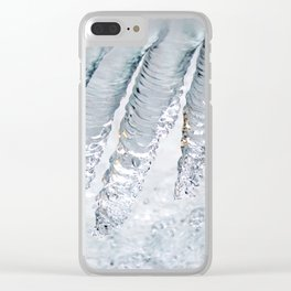 Natural ice sculpture Clear iPhone Case