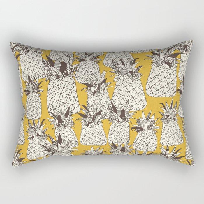 pineapple sunshine yellow Rectangular Pillow