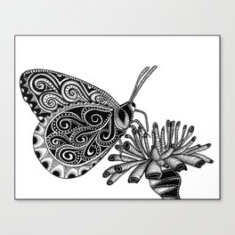 Tangled Butterfly on White Canvas Print