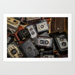 A Mess Of Old Cameras 2 Art Print