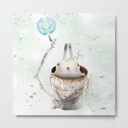 Can time the rabbit Metal Print