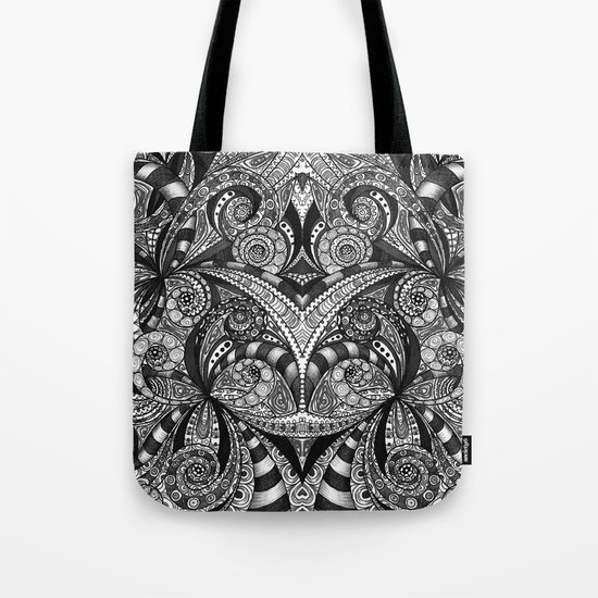 Drawing Floral Zentangle G6B Tote Bag
