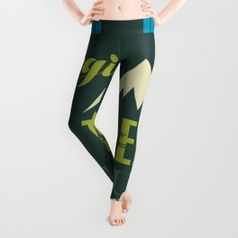 Life begins at the end of your comfort zone. Leggings