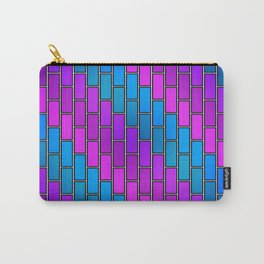 BRICK WALL #2 (Purples, Violets & Turquoises) Carry-All Pouch