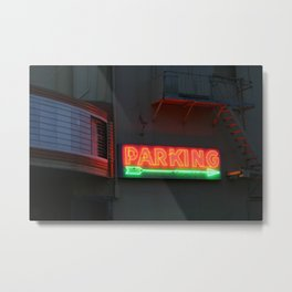park it there Metal Print