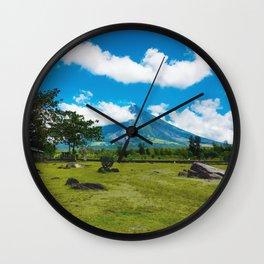 Mayon Volcano Wall Clock