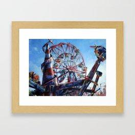 Soaring Past the Wonder Wheel Framed Art Print