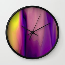 Sunset Flowing Paint Colors Wall Clock