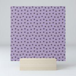 Purple Flower Doodles Mini Art Print