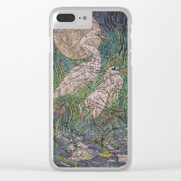 Cranes Clear iPhone Case