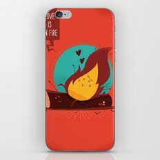 :::Love is on the fire::: iPhone & iPod Skin