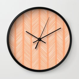 Cantaloupe Herringbone 2 Wall Clock
