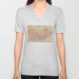Vintage Map of Boston MA (1876) Unisex V-Neck