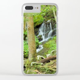 Smoky Mountains Waterfall 1 Clear iPhone Case