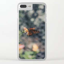 Grainy Monarch Clear iPhone Case