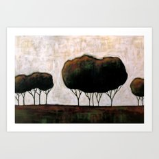 Trees On the Prairie Art Print