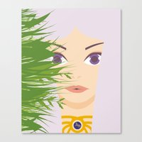 khaleesi Canvas Prints featuring Khaleesi of the Grass Sea by momolady