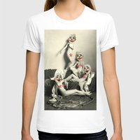 nudes T-shirts featuring RECLINING NUDE CLOWNS (censored) by Julia Lillard Art