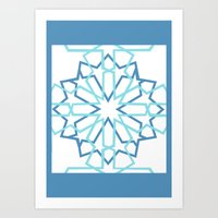 arabic Art Prints featuring Arabic Pattern by Soso Creation