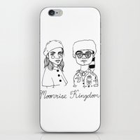 moonrise kingdom iPhone & iPod Skins featuring Moonrise Kingdom by ☿ cactei ☿