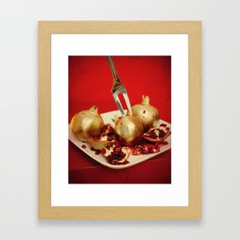 Foodscapes I: Golden granades Framed Art Print