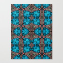 Brown and Blue Kaleidoscope Cells Canvas Print
