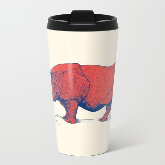 Red Rhino Metal Travel Mug