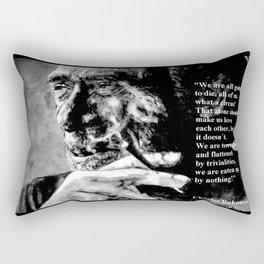 Charles Bukowski - black - quote Rectangular Pillow
