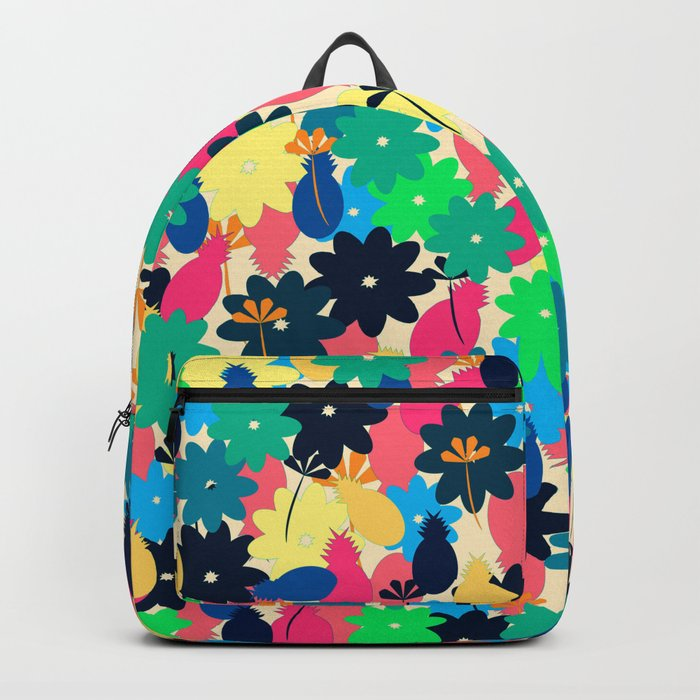 Flowers and pineapples Backpack