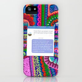Cover Up- Put Him In His Place iPhone Case
